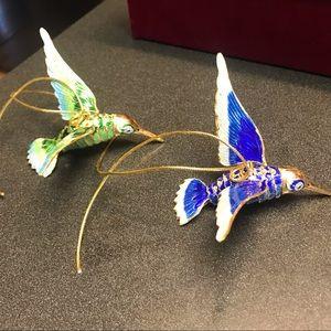 Cloisonne Hummingbird Ornaments